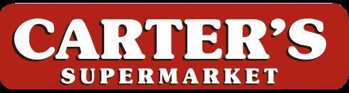 A logo of Carter's Supermarket